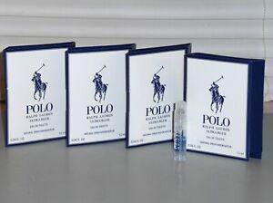 POLO ULTRA BLUE by RALPH LAUREN Men's eau de Toilette Spray Samples (4) X .04 oz