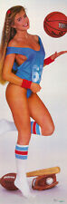 DOOR POSTER: GAME TIME - SEXY FEMALE MODEL - WITH SPORTS FREE SHIP #DP35  RAP7 B