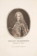 Portrait O XVIII°JF Phélypeaux de Maurepas Secr.d'état Marine Ministre Louis XVI