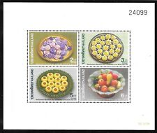 Thailand Sc 1360a, 1360b Mnh Perf & Imperf S/S Of 1990 - Flowers