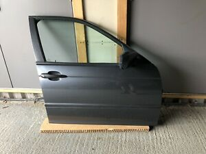 Complete BMW E46 Touring O/S/F Drivers Front Door Steel Blue