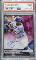 2018 Topps Now PURPLE MANNY MACHADO Auto *19/25 (Dodgers) (Padres) PSA 9 MINT