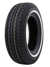4 New P185/75R14 Milestar MS775 89S SL White Side Wall All Season Touring Tires