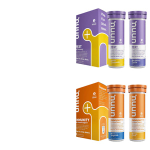 NUUN Rest Plus Immunity Wellness Variety Pack of 4 Recovery Sleep Bolster Immune