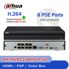 Dahua Upgrade 6Mp 8Ch Poe Nvr Dhi-Nvr2108Hs-8P-S2 Interface 8 Port &1Sata 6Tb