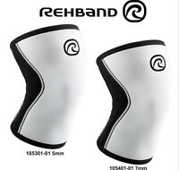 Rehband RX Knee Support CrossFit Weightlifting 105301-01 5mm 105401-01 7mm White