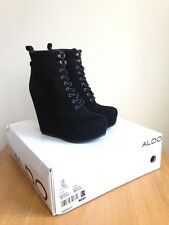 Aldo Suede Wedge Ankle Boots 5