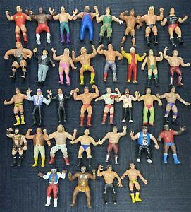 "36 Figure Lot Vintage 1980's LJN WWF Wrestling 8"" Figures Hulk Hogan Rowdy Piper"