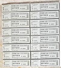 16 Talonarios Entradas antiguo cine Lis de Elda ( Alicante )