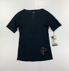RAPHA Women's Merino Mesh Short Sleeve Base Layer Black Size XS New