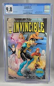 INVINCIBLE #1 CGC 9.8 Robert Kirkman Amazon Prime Edition NM/MT