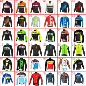 Mens Team Bike Cycling Jersey Cycling Shirts Long Sleeve bicycle Jersey Tops