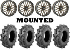 Kit 4 Moose Aggro Tires 28x10-14 on System 3 ST-3 Bronze Wheels H700