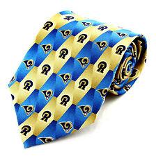 NFL Rams Mens Necktie Football Team Logo Sports Fan Silk Gift Him Neck Tie 0e2c1cbdf