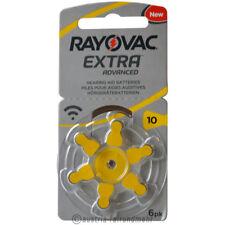 """6x Rayovac EXTRA Hörgeräte-Batterie Z 10 PR70 gelb"