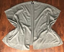 NWT  POLO RALPH LAUREN GRAY WOOL, CASHMERE SWEATER PONCHO SZ M