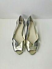 Calvin Klein Flats Silver and Gold Sandals Ballerinas