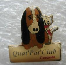 Pin's Quat Pat'Club Concorde Chien et Chat #A6