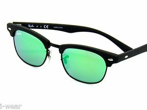 RAY BAN kids sunglasses RJ 9050S MATTE BLACK/GREEN MIRROR 100S3R JR 9050