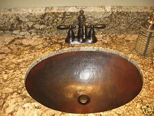 "19""X14""X 6"" OVAL SINK UNDERMOUNT 100 % COPPER HAND MADE"