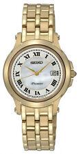 Seiko Premier Sxde04p1 SXDE04 Ladies Watch Gold Wr100m