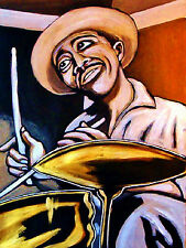 PHILLY JOE JONES PRINT poster jazz drums look stop listen cd cymbals snare bebop