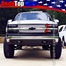 For 1999 2000 2001 2002 Chevy SILVERADO 1500 Polished Mesh 2PC Grilles OVERLAY