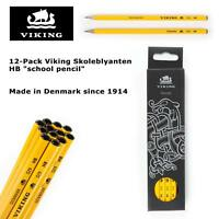 "12 Pack Viking Skoleblyanten HB ""school pencil"" - Made in Denmark since 1914"