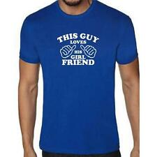 """NEW MEN'S PRINTED """"THIS GUY LOVES HIS GIRL FRIEND"""" T-Shirt Funny HUMOR Tee MMA"""