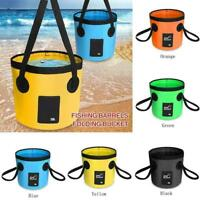 Outdoor Camping Fishing Folding Collapsible Bucket Storage Car Water L5V0