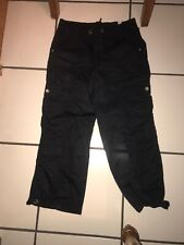 NWT JUSTICE BLACK CROPPED CARGO PANTS SIZE 16 REGULAR