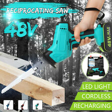 Electric Cordless Reciprocating Saw 4 Blades Wood Metal Cutting Variable