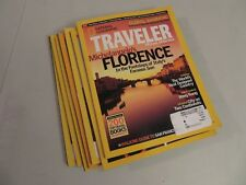 Lot of 7 National Geographic's Traveler Magazines Mar-Dec 2006 VG
