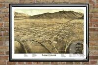 Old Map of Leadville, CO from 1879 - Vintage Colorado Art, Historic Decor