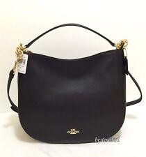 New COACH 58036 Chelsea 32 Pebbled Leather Hobo Crossbody Shoulder Bag Black