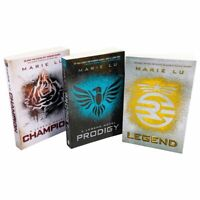 Legend Trilogy Series Collection Marie Lu 3 Books Set Prodigy, Champion NEW UK