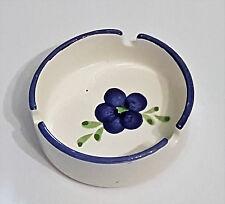 Aschenbecher blau Blume vintage altmodisch Keramik Ascher Landhaus shabby retro