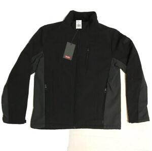 TUMI Men's M STRETCH SOFTSHELL BLACK/GREY JACKET w/ Faux Fur Lining NWT $125
