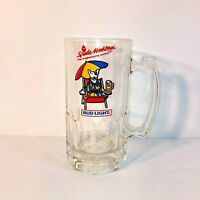 "VTG 1987 Bud Light Spuds MacKenzie ""The Original Party Animal"" Glass Stein - EUC"