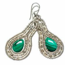 Pendientes de joyería con gemas Ana Silver Co. malaquita