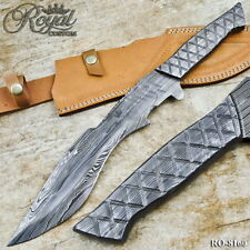 ROYAL HAND MADE DAMASCUS STEEL INTEGRAL FORGED HUNTING KNIFE - RO-8160