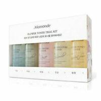 MAMONDE Flower Toner 25ml Trial Kit 5 Items Best Korean Cosmetics + Free Gift