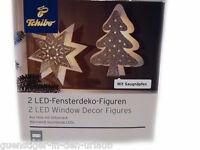 TCM Tchibo 2 LED Fensterdeko Figuren Weihnachten Weihnachtsdeko Fenster