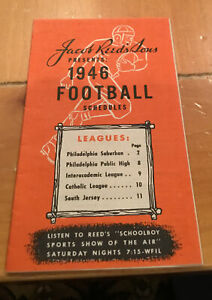 Jacob Reeds Sons  1946 High School Football Schedule South Jersey Suburban