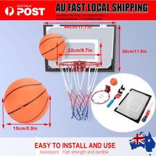 Indoor Mini Basketball Hoop Ring Backboard Kit Door Mounted Mount Kid Set AU