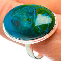 Large Chrysocolla 925 Sterling Silver Ring Size 12.5 Ana Co Jewelry R41116F