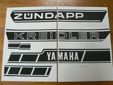 STICKERS,DECALS PHOTOCOPY ON PAPER ZUNDAPP KREIDLER YAMAHA TOMOS BROMFIETS MOPED