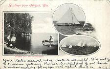 Vintage Postcard Greetings From Oshkosh WI Multiview Scenes on Lake Winnebago