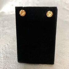 Orange Gemstone Stud Earrings