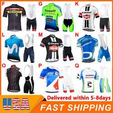 Mens Cycling Short Sleeve Jersey Bib Shorts Suit Summer Team Bike Uniform 2021